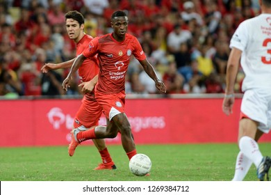 Rio, Brazil - december 27, 2018: Vinicius Junior player during a Soccer game of the All-stars Game in the Maracana stadium.