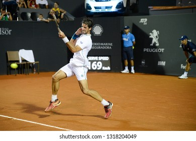 Rio, Brazil - february 16, 2019: Thomaz Bellucci (BRA) during Rio Open 2019 (ATP 500) held at the Jockey Club Brasileiro.