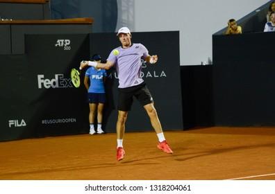 Rio, Brazil - february 16, 2019: Casper Ruud (NOR) during Rio Open 2019 (ATP 500) held at the Jockey Club Brasileiro.