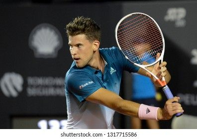 Rio, Brazil - february 19, 2019: Dominic Them (AUT) during Rio Open 2019 (ATP 500) held at the Jockey Club Brasileiro.