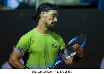 Rio, Brazil - february 19, 2019: Fabio Fognini (ITA) during Rio Open 2019 (ATP 500) held at the Jockey Club Brasileiro.