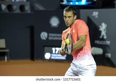 Rio, Brazil - february 19, 2019: Laslo Djere (SRB) during Rio Open 2019 (ATP 500) held at the Jockey Club Brasileiro.
