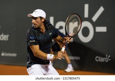 Rio, Brazil - february 19, 2019: Pablo Cuevas (URU) during Rio Open 2019 (ATP 500) held at the Jockey Club Brasileiro.