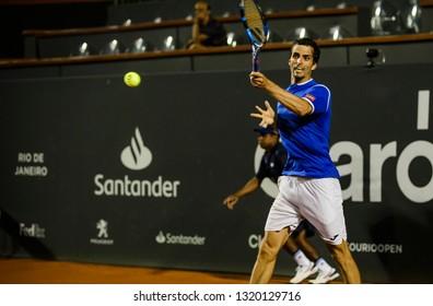 Rio, Brazil - february 21, 2019: Albert Ramos-Vinolas (ESP) during Rio Open 2019 (ATP 500) held at the Jockey Club Brasileiro.