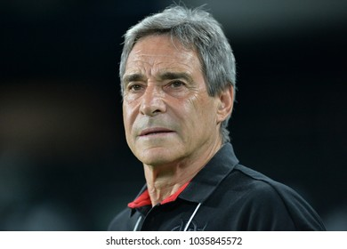 Rio, Brazil - february 28, 2018: Carpegiani coach in match between Flamengo and River Plate (ARG) by the Taca Libertadores in Nilton Santos Stadium