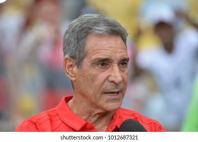 Rio, Brazil - january 27, 2018: Carpegiani coach in match between Flamengo and Vasco by the Carioca Championship in Maracana Stadium
