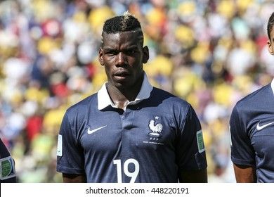Rio, Brazil - july 04, 2014: Paul POGBA during the FIFA 2014 World Cup. Germany is facing France in the quarter-finals at Maracana Stadium