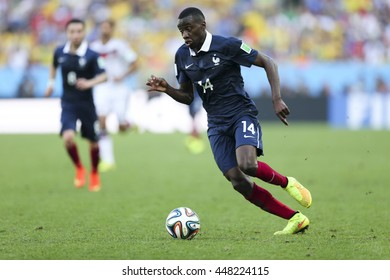 Rio, Brazil - july 04, 2014: Blaise MATUIDI during the FIFA 2014 World Cup. Germany is facing France in the quarter-finals at Maracana Stadium