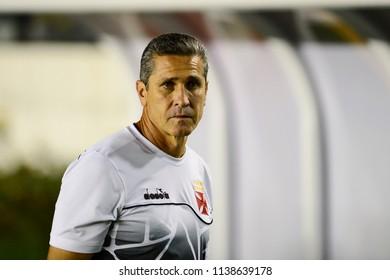 Rio, Brazil - july 19, 2018: Jorginho coach in match between Vasco and Fluminense by the Brazilian Championship in Sao Januario Stadium