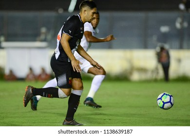 Rio, Brazil - july 19, 2018: Andrey player in match between Vasco and Fluminense by the Brazilian Championship in Sao Januario Stadium