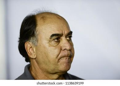 Rio, Brazil - july 19, 2018: Marcelo Oliveira coach in match between Vasco and Fluminense by the Brazilian Championship in Sao Januario Stadium