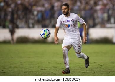 Rio, Brazil - july 19, 2018: Jadson player in match between Vasco and Fluminense by the Brazilian Championship in Sao Januario Stadium