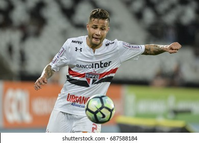Rio, Brazil - july 29, 2017: Bruno player in match between Botafogo and  Sao Paulo by the Brazilian championship in Nilton Santos Stadium