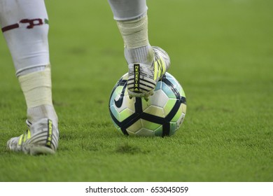 Rio, Brazil - jun 03, 2017: ball in match between Fluminense and Vitoria by the Brazilian championship in Maracana Stadium