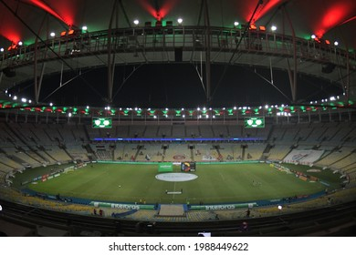 Rio, Brazil - june 03, 2021: Arena view in match between Fluminense vs Bragantino by 3st round of Brazilian Cup in Maracana Stadium