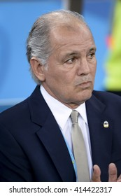 `RIO, BRAZIL - June 15, 2014: Coach Alejandro SABELLA (ARG) during the 2014 World Cup. Argentina is facing Bosnia in the Group F at Maracana Stadium