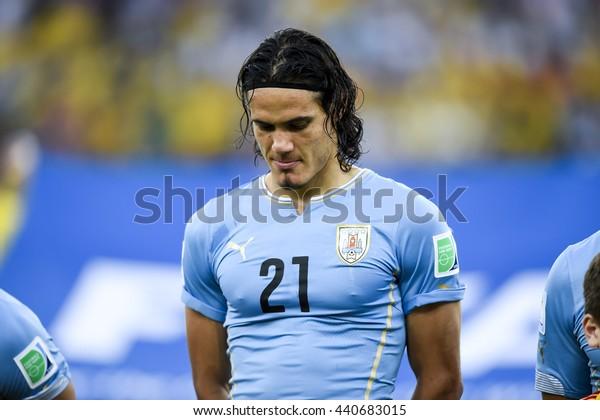 RIO, BRAZIL - June 28, 2014: Edinson CAVANI of Uruguay, during the FIFA 2014 World Cup. Colombia is facing Uruguay in the Round of 16 at Maracana Stadium