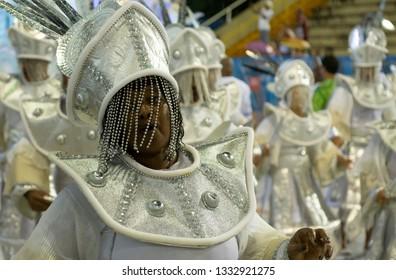 Rio, Brazil - march 01, 2019: Unidos da Ponte during the Carnival Samba School Carnival RJ 2019, at Sambodromo of Marques de Sapucai