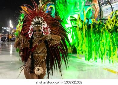 Rio, Brazil - march 01, 2019: Alegria da Zona Sul during the Carnival Samba School Carnival RJ 2019, at Sambodromo