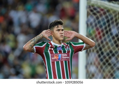 Rio, Brazil - march 30, 2018: Pedro player in match between Fluminense and Vasco by the semifinal Carioca Championship in Maracana Stadium