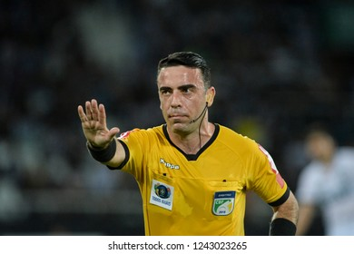 Rio, Brazil - november 26, 2018: Igor Junio Benevenuto de Oliveira referee in match between Botafogo and Parana by the Brazilian Championship in Nilton Santos Stadium