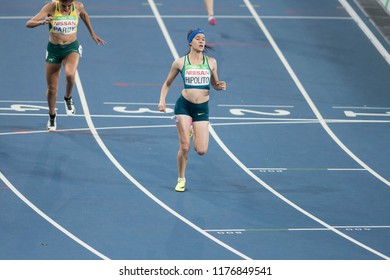 Rio, Brazil - september 08, 2016: HIPOLITO Veronica (BRA) during women's 100m - T38, round 1, in the Rio 2016 Paralympics Games.