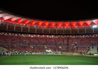 Rio, Brazil - september 12, 2018: match between Flamengo and Corinthians by the Brazilian Cup in Maracana Stadium