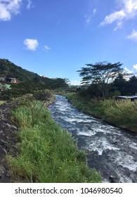 Rio Caldera, a river flowing through the lovely town of Boquete, Panama