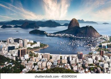 Rio de Janeiro Aerial Skyline - Brazil