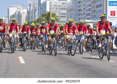 RIO DE JANEIRO  APRIL 01: departure during the event World Bike Tour Rio de Janeiro. Event World Bike Tour Rio de Janeiro April 01, 2012 Rio de Janeiro, Brazil