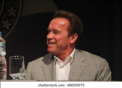 RIO DE JANEIRO, APRIL 3, 2016, BRAZIL: Arnold Schwarzenegger during press conference of Arnold Classic Brazil.