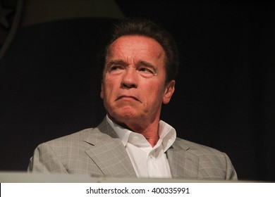 RIO DE JANEIRO, APRIL 3, 2016, BRAZIL: Arnold Schwarzenegger during press conference of Arnold Classic Brazil.