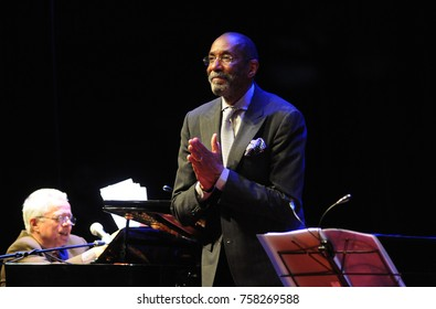 Rio de Janeiro, April 9, 2014. Jazz Bassist Ron Carter during the presentation of his show at the Botanical Garden, Rio de Janeiro, Brazil