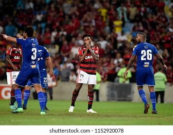 Rio de Janeiro, August 08, 2018. Flamengo soccer player, Vitinho  , in action at the Flamengo Vs. Cruzeiro game at the Maracanã Stadium in Rio de Janeiro, Brazil