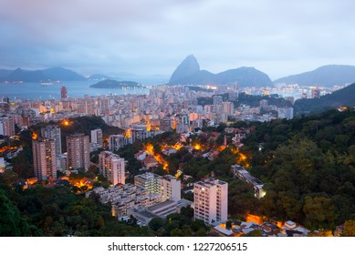 Rio de Janeiro before sunrise with the Sugarloaf Mountain