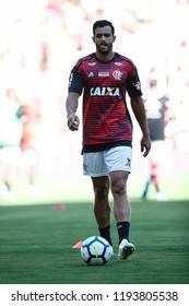 Rio de Janeiro, Brasil, 09.23.2018 - Soccer player of Flamengo team (Henrique Dourado) during a Brazilian Championship Soccer match. Flamengo versus Atletico Mineiro.