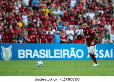Rio de Janeiro, Brasil, 09.23.2018 - Soccer player of Flamengo team (Para) during a Brazilian Championship Soccer match. Flamengo team versus Atletico Mineiro team.
