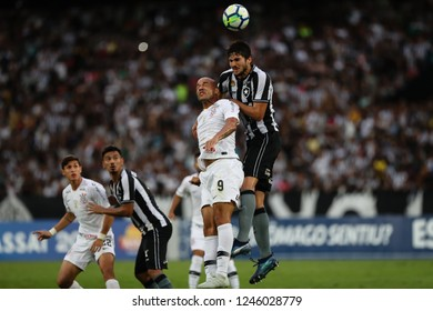 Rio de Janeiro, Brasil, 11 04 2018 - Roger (Corinthians - left) and Igor Rabello (Botafogo - right) during a Brazilian Championship Soccer match. Botafogo team versus Corinthians team.