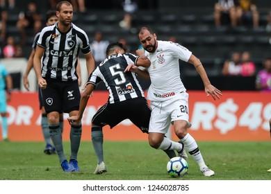 Rio de Janeiro, Brasil, 11 04 2018 - Danilo (Corinthians team - right) during a Brazilian Championship Soccer match. Botafogo team versus Corinthians team.
