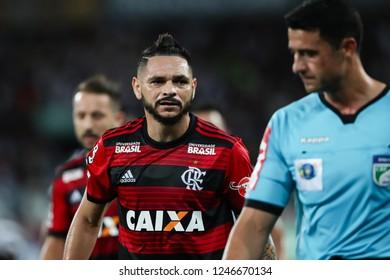Rio de Janeiro, Brasil, 11 10 2018 - Para (Flamengo team - center) during a Brazilian Championship Soccer match. Botafogo team versus Flamengo team.
