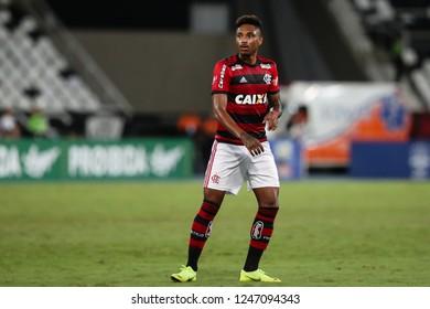 Rio de Janeiro, Brasil, 11 10 2018 - Vitinho (Flamengo team) during a Brazilian Championship Soccer match. Botafogo team versus Flamengo team.