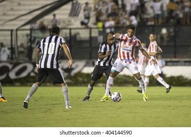 Rio de Janeiro, Brasil - April 09, 2016: Almir and Ribamar player in match between Vasco da Gama and Madureira by the Carioca championship in the Sao Januario Stadium