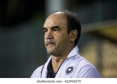 Rio de Janeiro, Brasil - April 28, 2016: Coach Ricardo Gomes  player in match between Botafogo and Coruripe by the Brazil championship in the Los Larios Stadium