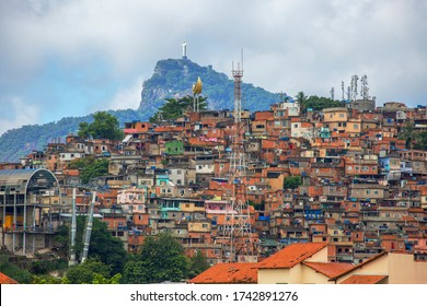 Rio de Janeiro, Brazil, 03/06/2020, view of the Morro da Providencia favela.  This is the first favela in the history of Rio de Janeiro. All of the mountain, on which there are slums, called favelas.