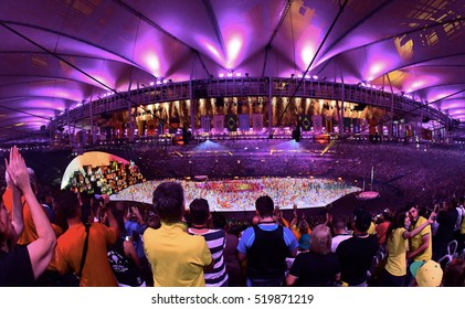 Rio De Janeiro, Brazil, 05 August: Olympic Games 2016 Officially opened with a colorful ceremony at Maracana Stadium in Rio.