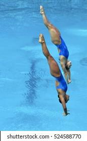 Rio de Janeiro, Brazil 08 August 2016 : Diving in the Olympic Games 2016, at Maria Lenk Aquatic, Rio.