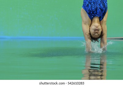 Rio de Janeiro, Brazil 08 August 2016 :  Malaysia athlet diving in the Olympic Games 2016, at Maria Lenk Aquatic, Rio.