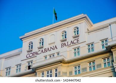 Rio de Janeiro / Rio de Janeiro / Brazil - 12/28/2016: Rio de Janeiro Brazil Copacabana Palace Copacabana Beach Rio 40 degrees