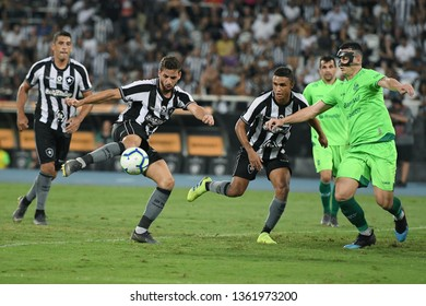 Rio de Janeiro, Brazil, April 4, 2019. Football player João Paulo from the Botafogo team during the Botafogo x Youth match for the Brazil Cup at the Maracanã stadium.
