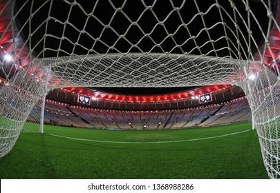 Rio de Janeiro, Brazil, April 11, 2019. Maracanã football stadium before the game Flamengo vs. San José by the Copa Libertadores.
